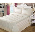 Anita Cream Lace and Satin  bedspread