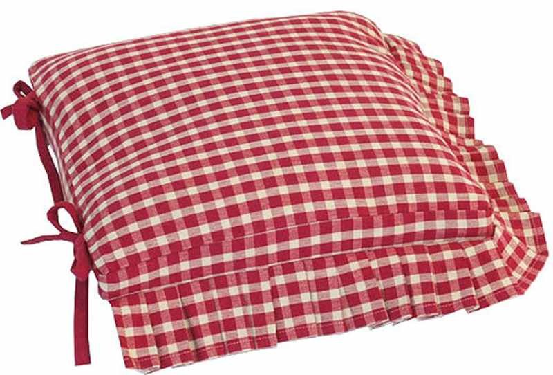 Red And White Kitchen Chair Cushions