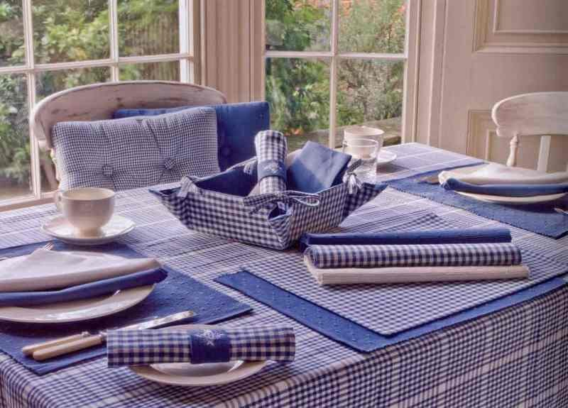 Delightful Auberge Wedgewood Blue Tablecloth