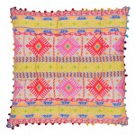 Neon Aztec Cushion Cover