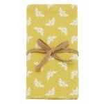 Bee Ochre napkin set of four