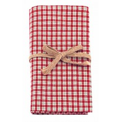 Bell Check napkin set of four
