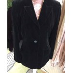 Black silk velvet jacket size 12