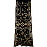 Chatsworth Black Velvet Curtain Panel