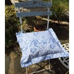 William Morris Blue Compton Oxford seat pad
