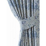 William Morris Blue Compton Lined Curtains