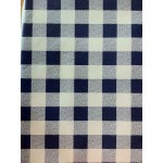 Gingham Blue Country Check vinyl tablecloth