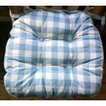 Gingham Country Check Chunky seat pad Blue
