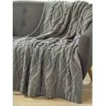 Cable Knit Throw  Storm Grey