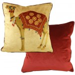 Camel Burgundy cushion cover