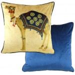 Camel Indigo cushion cover