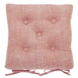 Chambray Terracotta Blush buttoned seat pad