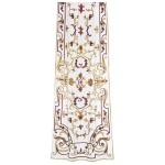 Chatsworth Net Applique Panel Terracotta and Gold
