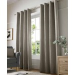 chenille cream eyelet curtains