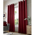 chenille red eyelet curtains