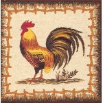 Cockerel facing left