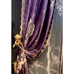 Constance Heather Velvet Curtain Panel