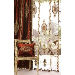 Constance Terracotta Velvet Curtain Panel