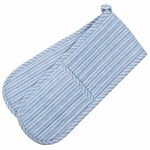 County Ticking Cornish Blue double oven glove
