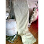 Cream Embroidered Voile Lined Curtains