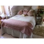 Cream Paisley quilted bedspread