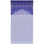 Crochet curtain Electric Blue