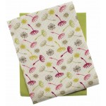 Dandelion tea towel set avocado