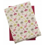 Dandelion tea towel set raspberry
