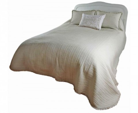 Devon Ecru Muslin bedspread