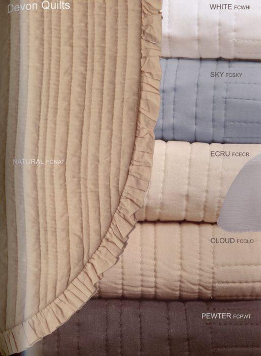 Devon White Muslin Bedspread