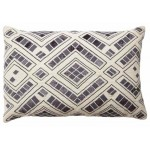 Diamond Jute Cushion Oblong