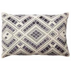 Diamond Jute Cushion Oblong