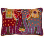Kissing Elephants Cushion Cover