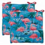 Flamingos seat pads 2-pack