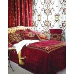 Florence Claret Velvet Curtain Panel