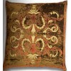 Florence Khaki Border Velvet Cushion cover