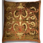 Florence Khaki Large Velvet Cushion cover