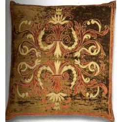 Florence Khaki Large Velvet Cushion cover