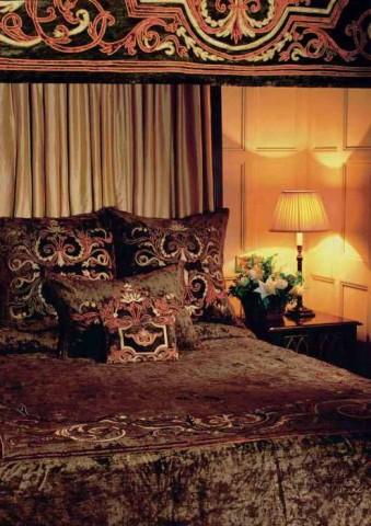 Florence Khaki Velvet Bedspread