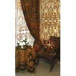 Florence Khaki Velvet Curtain Panel