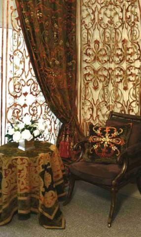 Florence Khaki Velvet Curtain Panel