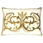 Frances Ivory Silk  Embroidered Cushion cover Oblong
