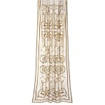 Frances Ivory Silk  Embroidered Curtain panel
