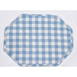 Gingham Blue Country Check octagonal place mat