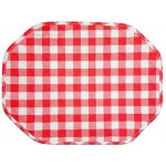 Gingham Red  Country Check octagonal place mat