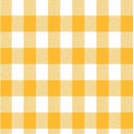 Gingham Yellow Country Check fabric tablecloths