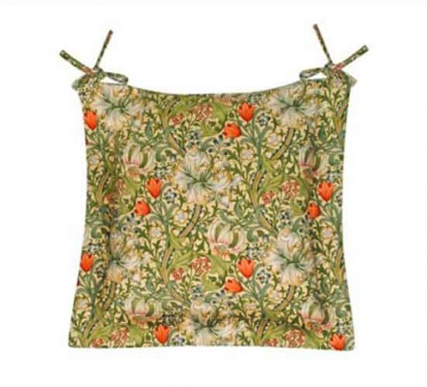 William Morris Golden Lily Oxford seat pad