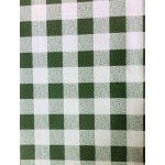 Gingham Green Country Check  vinyl tablecloth