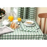 Gingham Green Country Check fabric tablecloths
