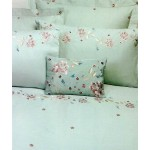 Gypsy Embroidered Duvet Cover Duckegg